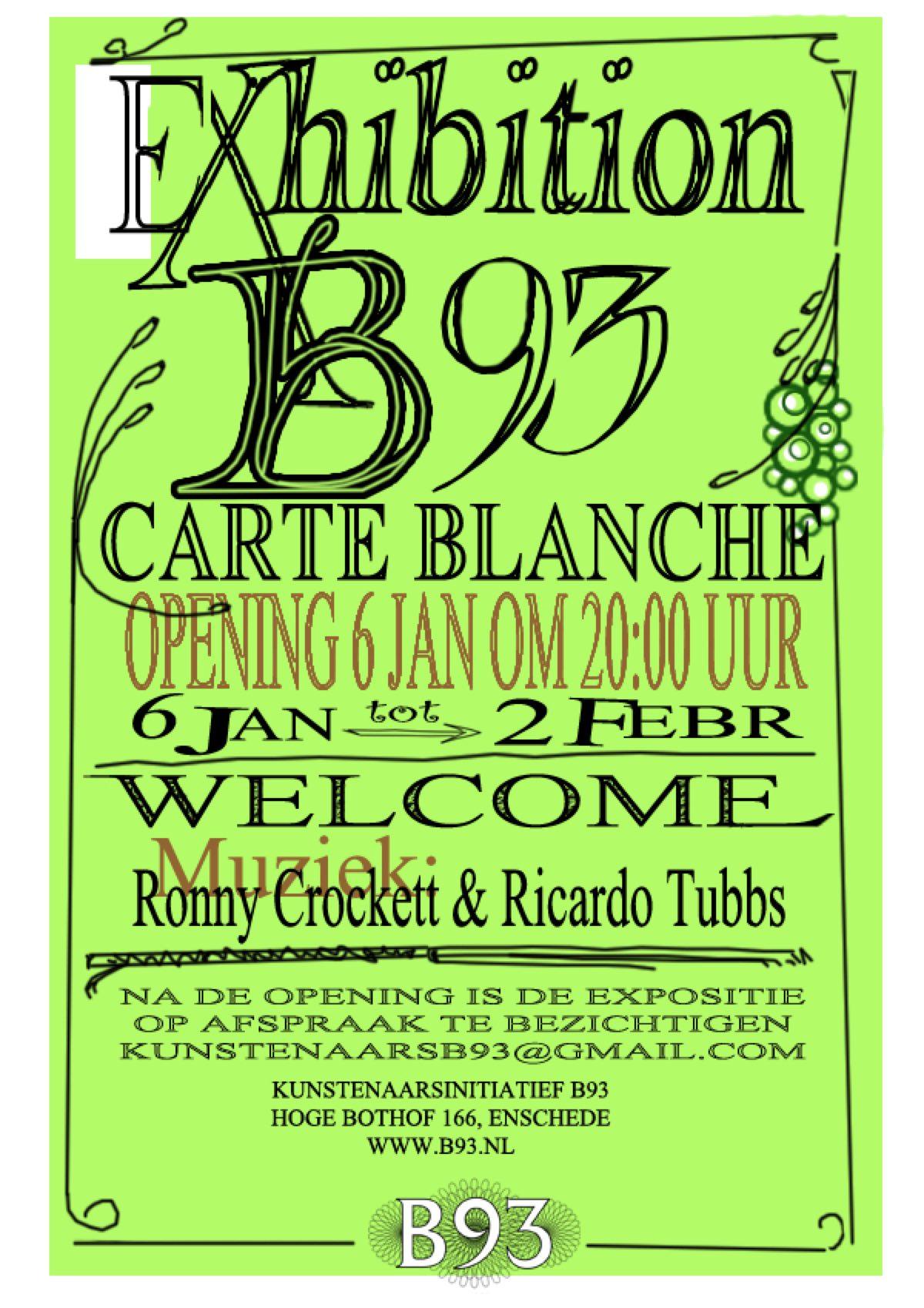 Carte Blanche – B93 kunstenaars