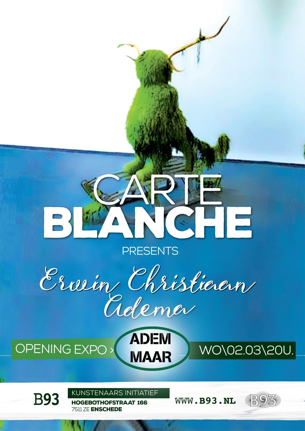 Carte Blanche – Erwin Christiaan Adema