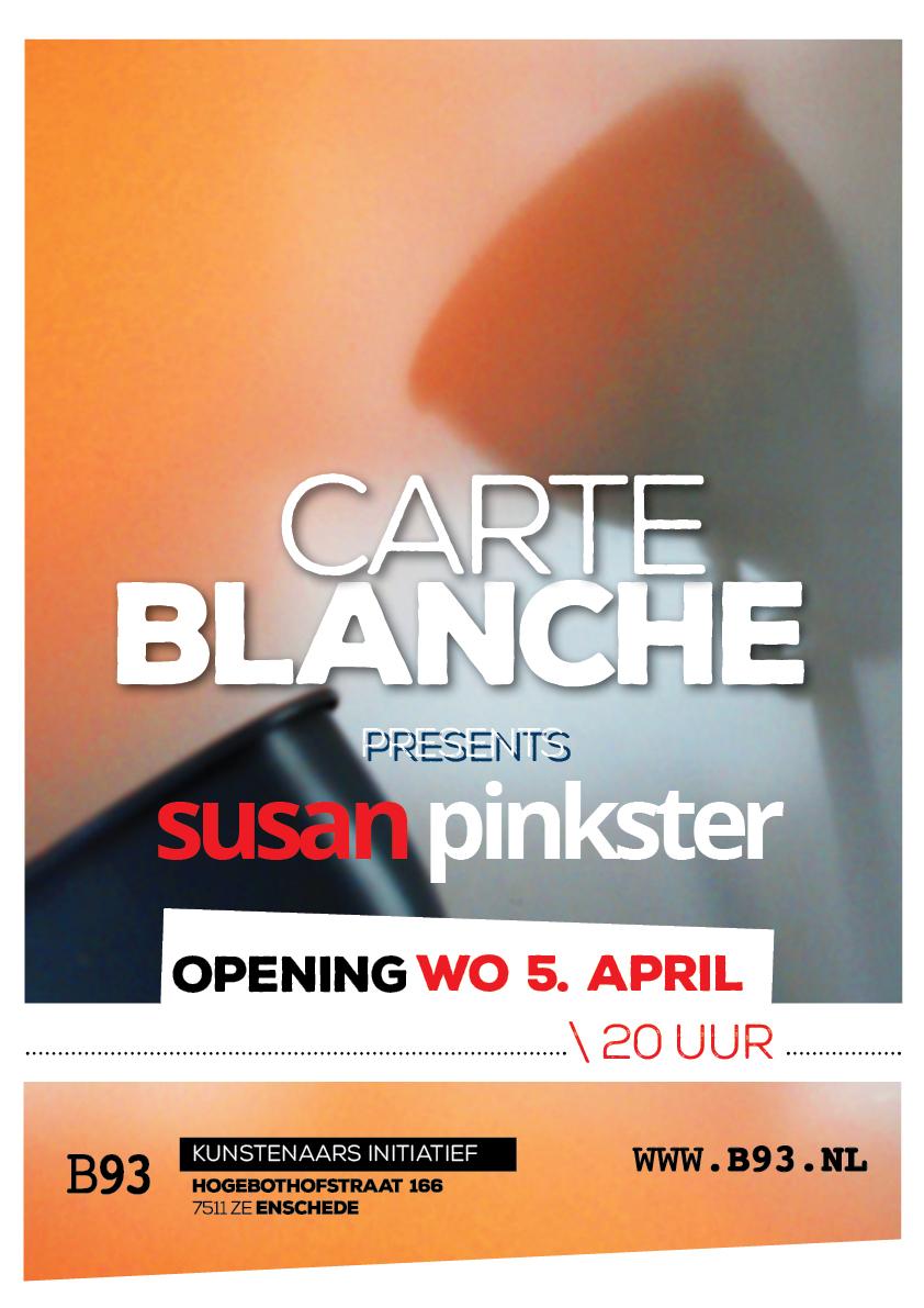 Carte Blanche – Susan Pinkster
