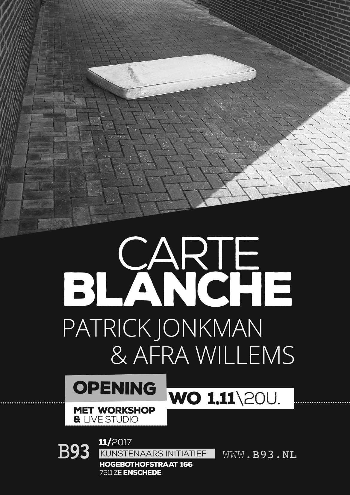 Carte Blanche – Patrick Jonkman & Afra Willems
