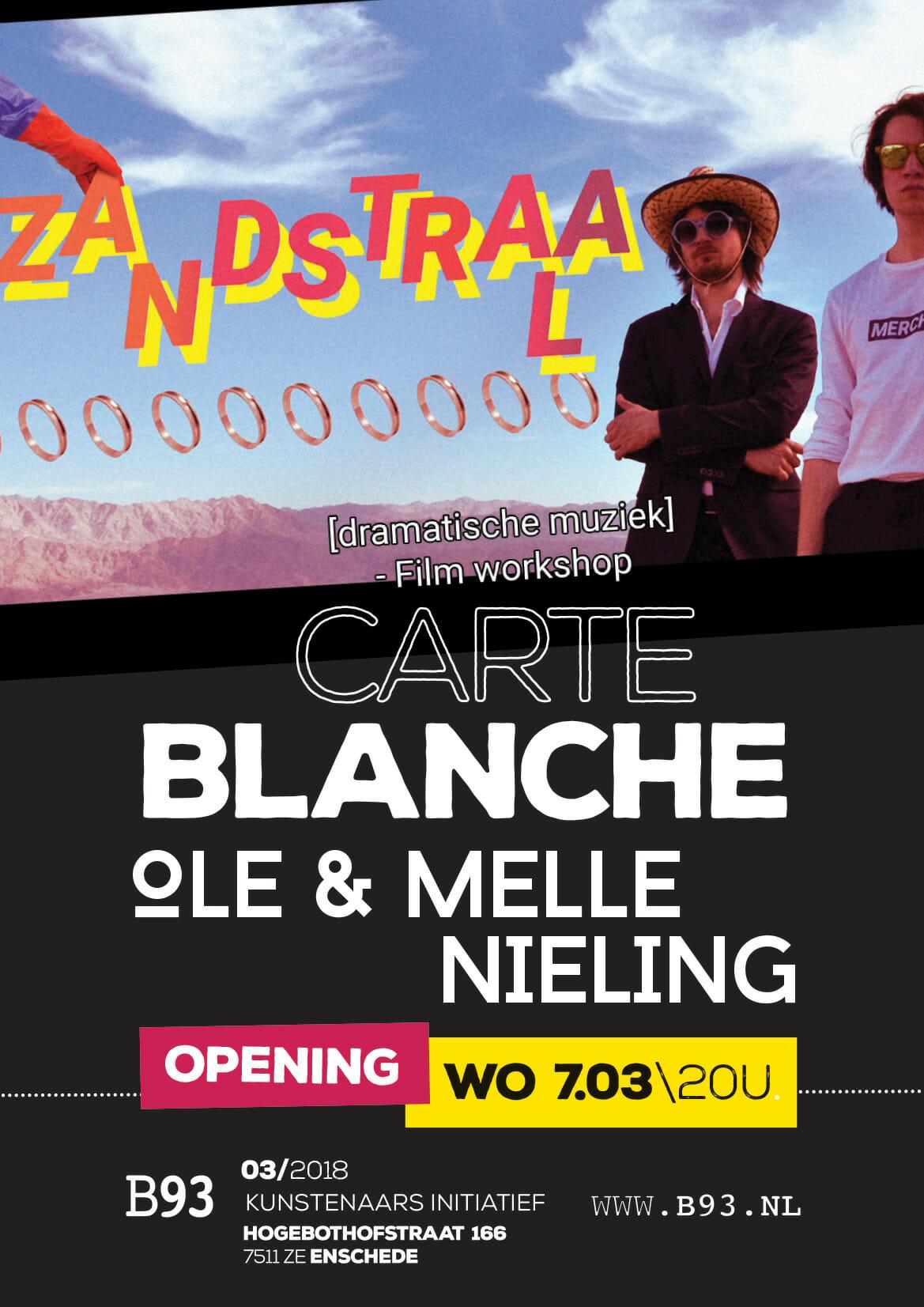Carte Blanche – Ole en Melle Nieling