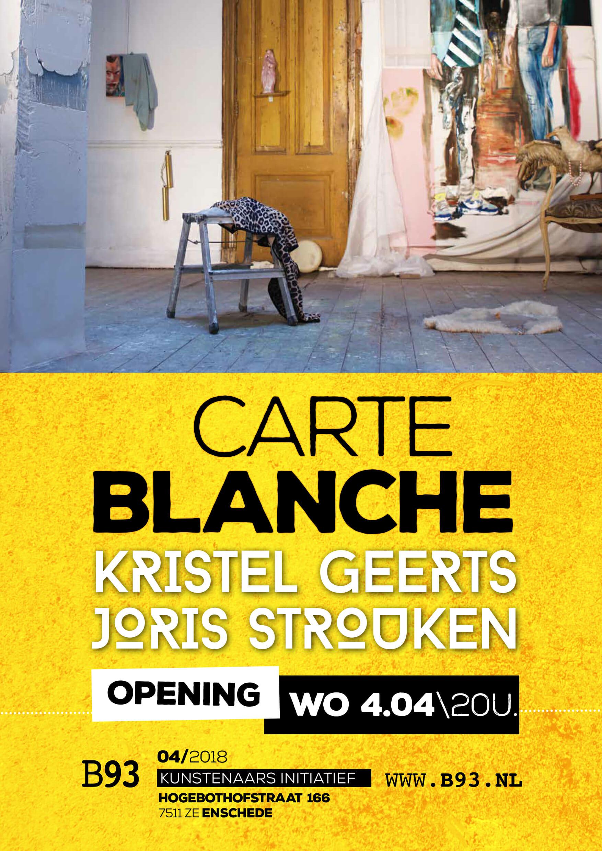 Carte Blanche – Kristel Geerts en Joris Strouken