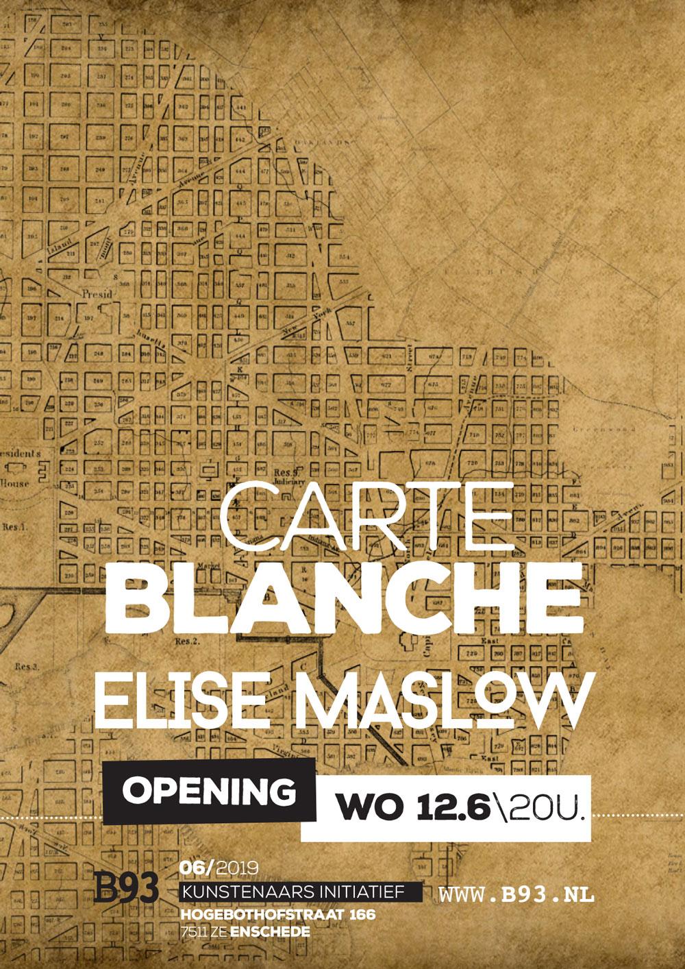 Carte Blanche – Elise Maslow